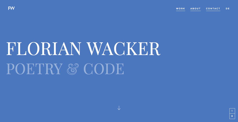 Florian Wacker | Poetry and Code