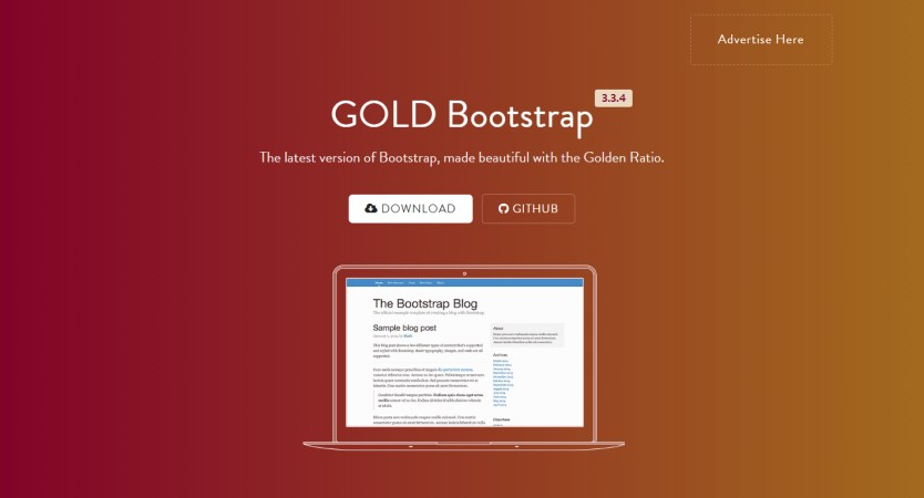 GOLDBootstrap | Single Page HTML Showcase