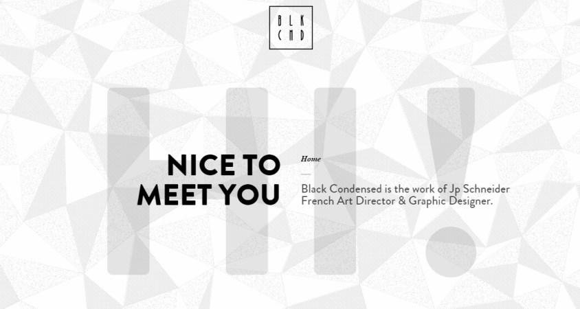 BLKCND — Black Condensed