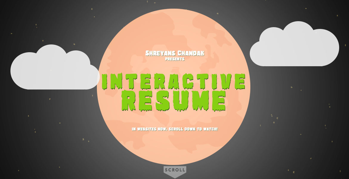 Shreyans Chandak's Interactive Resume