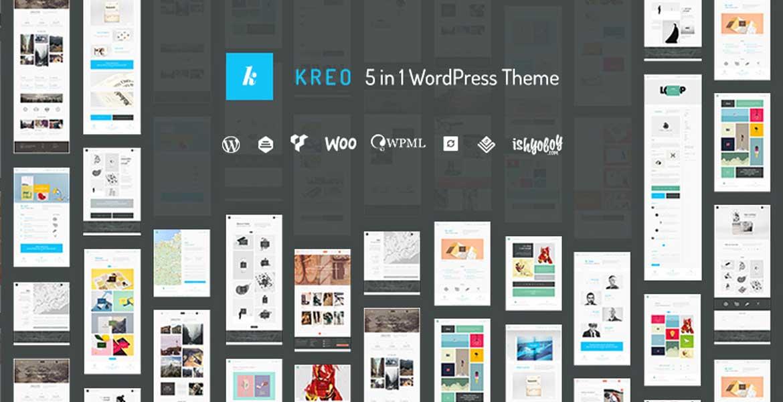 Kreo - 5 in 1 WordPress Theme