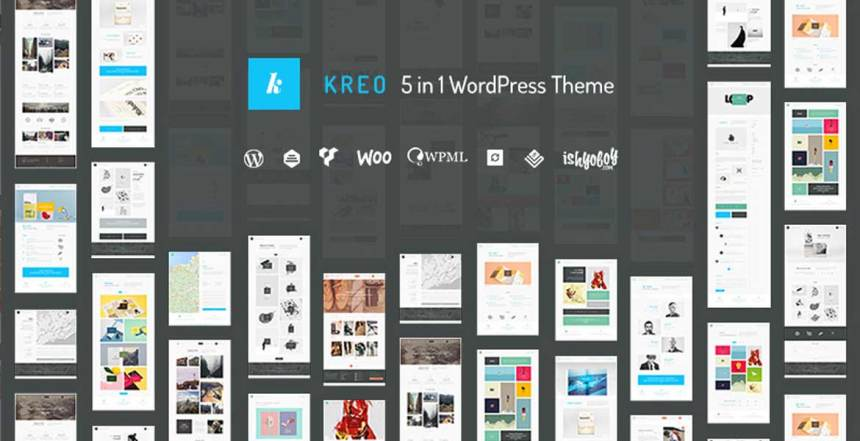 Kreo - 5 in 1 WordPress Theme