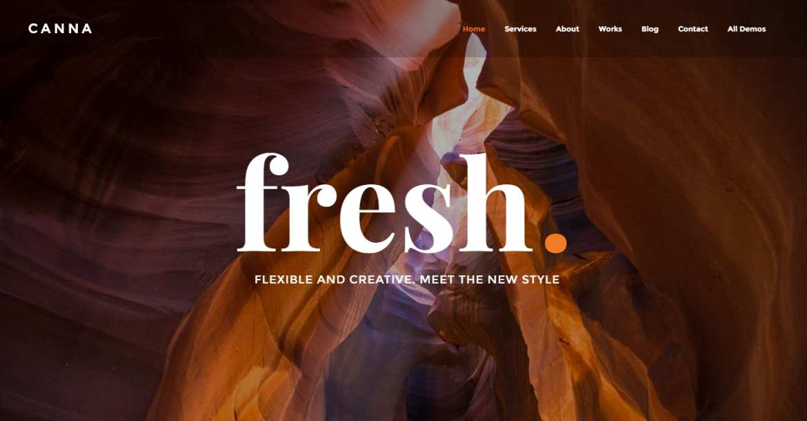 Canna Creative Elegant WordPress Theme