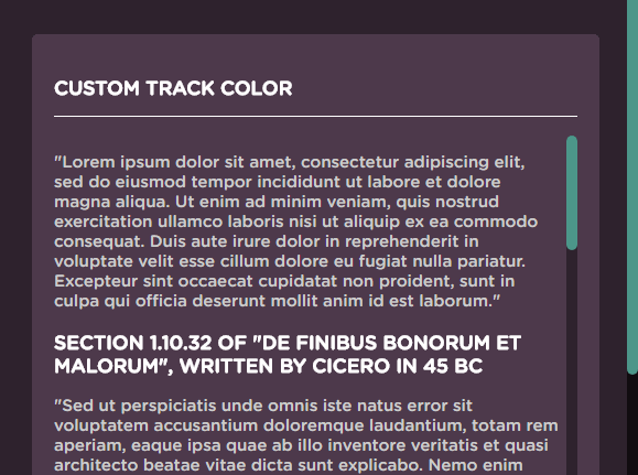 Stylish Custom Scrollbar In Pure JavaScript – MiniBar