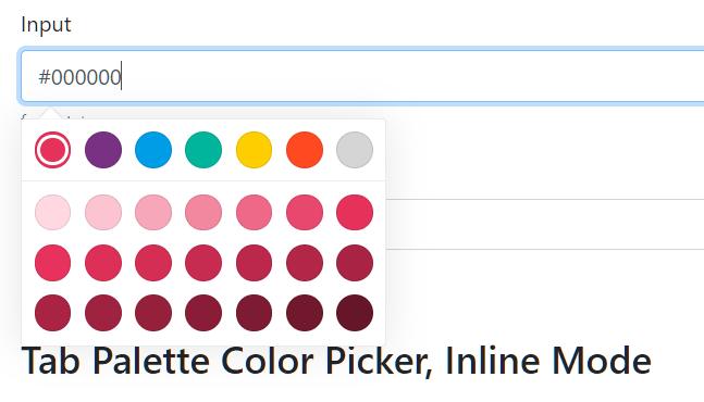 Colorpicker.Pro Tab Palette