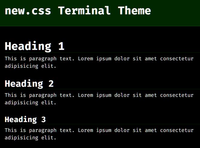 New.css Terminal Theme