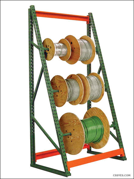 cable reel rack industrial storage