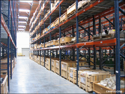 moving pallet rack systems material