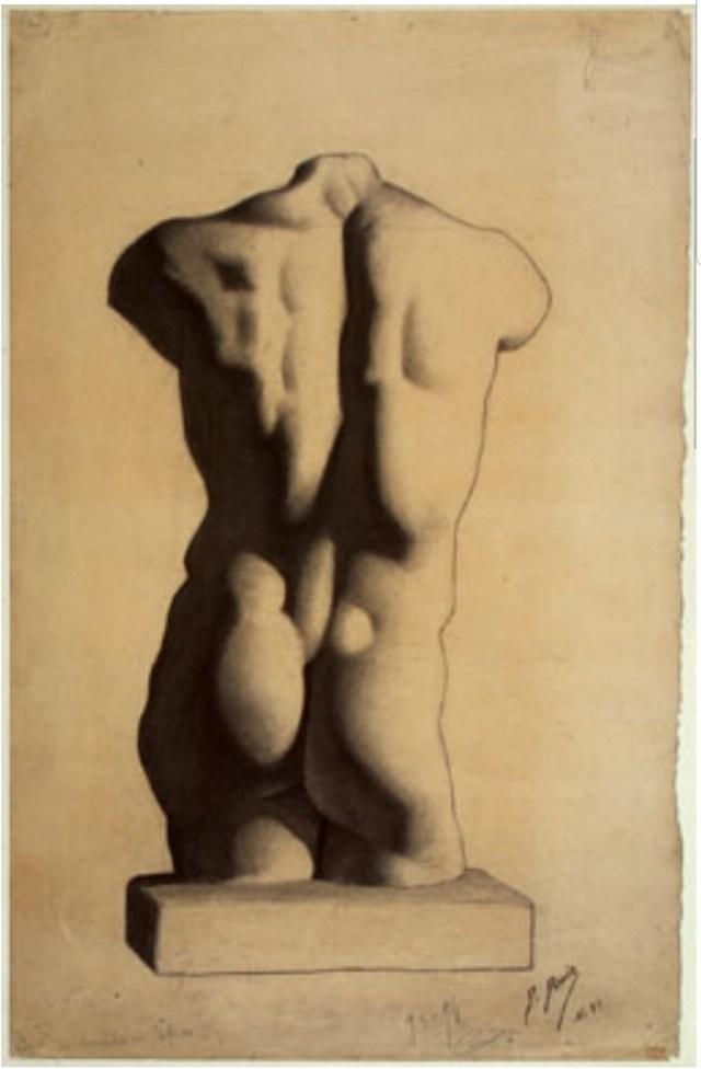 Sudy of a Torso, After a Plaster Cast, 1893/1894