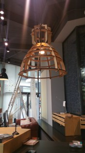 Here are interesting pendant lights that are cut and assembled from a flat sheet of material.