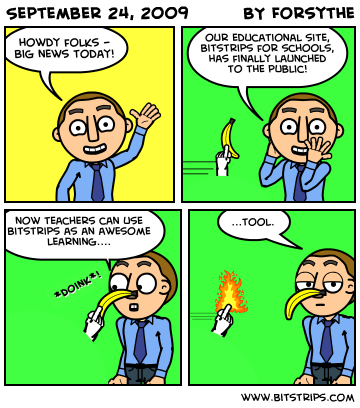 Example of a finished comic.