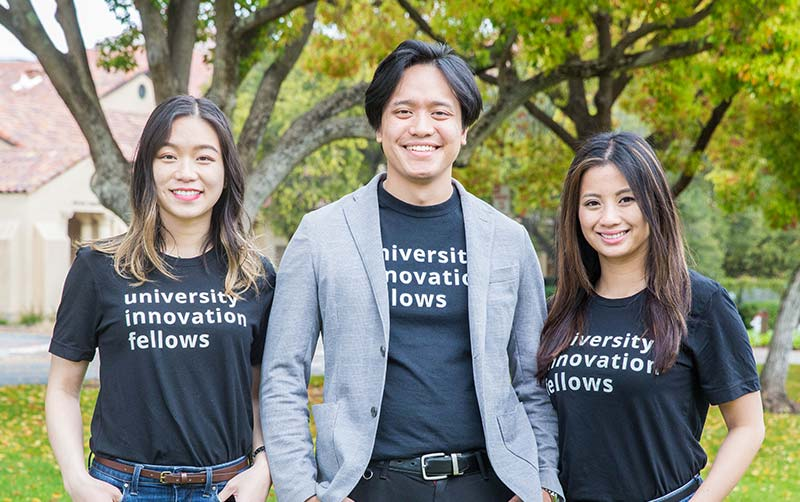 CSUF Entrepreneurship alumni are dedicated to promoting innovation at Cal State Fullerton even after they have graduated and are hard at work! Yumi Liang, Lorenzo Santos, and Vanessa Ganaden University Innovation Fellows