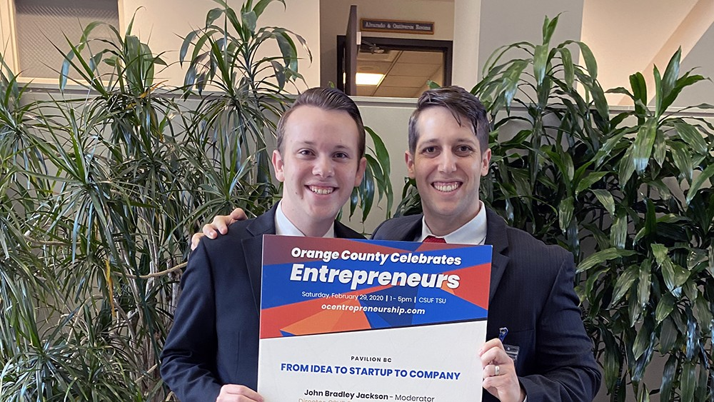 Bryan and Kevin Ruef at Orange County Celebrates Entrepreneurs