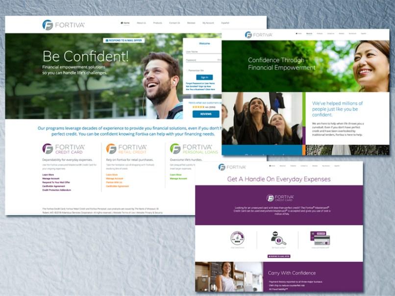 Myfortiva Com Website Atlanticus Offers Fortiva Financial. Web Design Christel Swift Portfolio