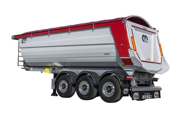 Semi-trailer with tipping body MENCI SA
