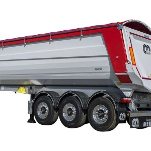 Semi-trailer with tipping body MENCI SA