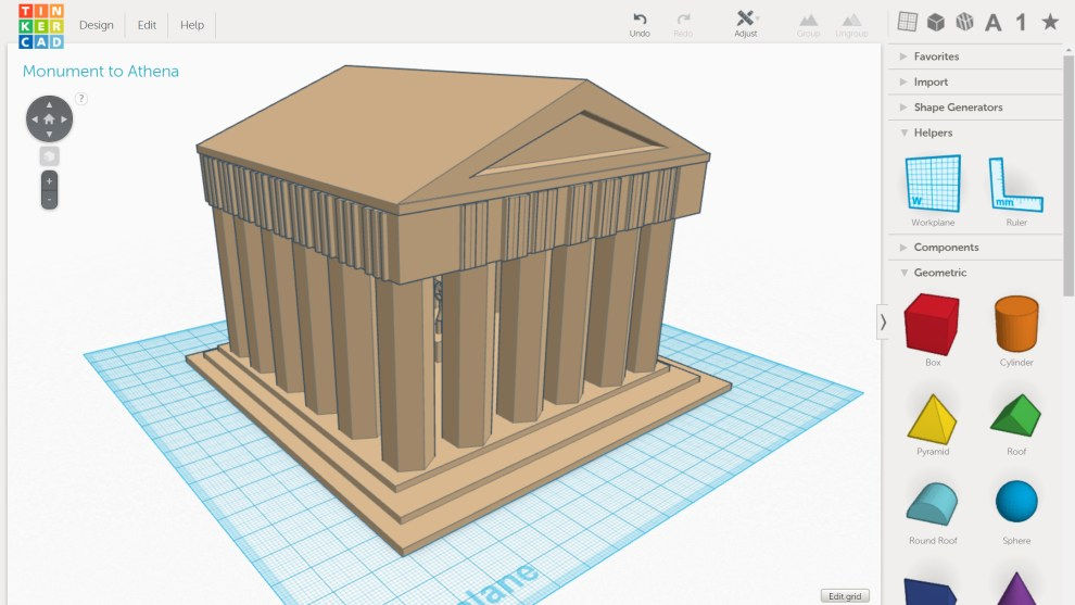 designing greek monuments in 3d
