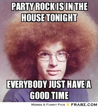 Party Rock is in the house tonight  Gnarly Dude Meme