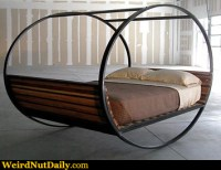 Funny Pictures @ WeirdNutDaily - Wheel Bed