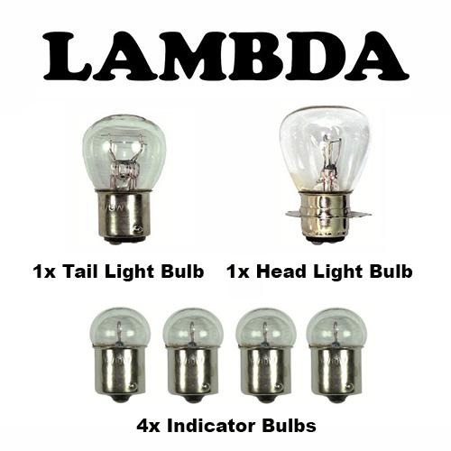 6v FULL bulb set honda ct110