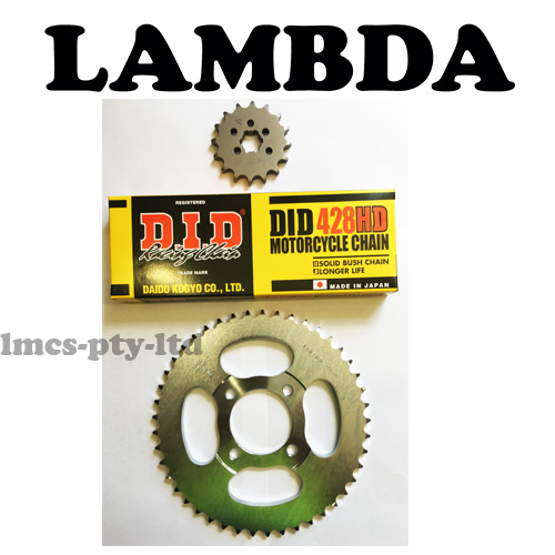DID CT110 chain and sprocket kit
