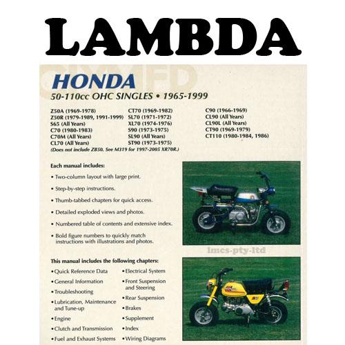 manual book by clymer for honda ct110 postie bikesHonda S90 Clymer Wiring Diagram #21