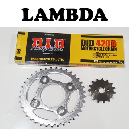 Honda NBC110 Chain and Sprocket Set with DID Chain