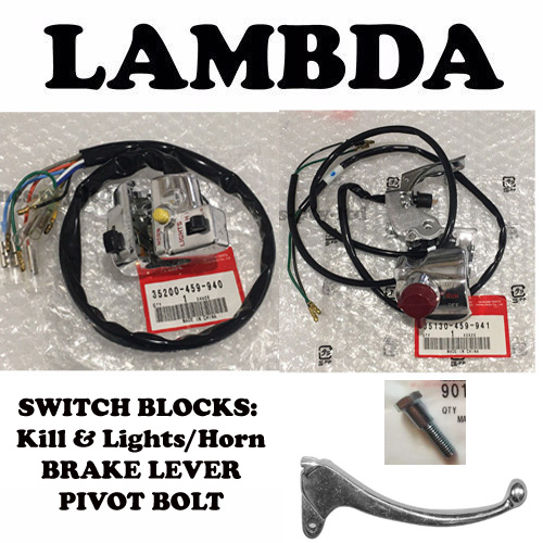 SWITCH BLOCKS AND BRAKE LEVER FOR HONDA CT110