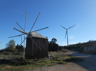 Typical wind mill - Car parking