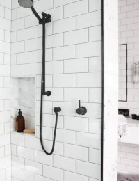Bathroom profile: Marble & subway tiles