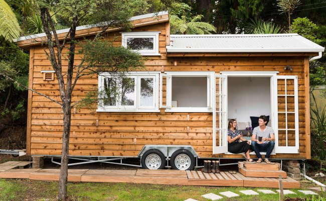 Tiny Home On Wheels Was A Diy Dream For This Auckland