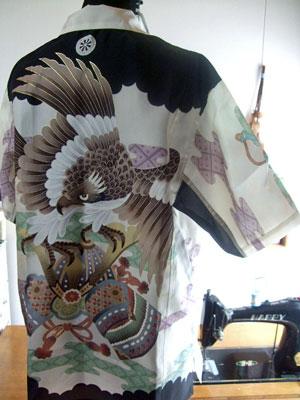 お宮参り用の一つ身からリメークしたアロハシャツ