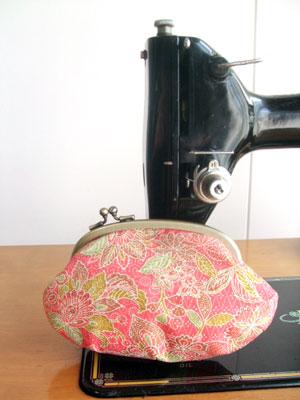 着物リフォームの作り方…残布からのがま口/巾着/ハンドバッグ編
