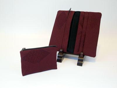 道行コートをリメイクした制作実例…ハンドバッグ&財布