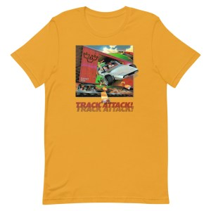 Track Attack Distressed Unisex T-Shirt
