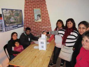 Los compañer@s votaron también en Malvinas Argentinas