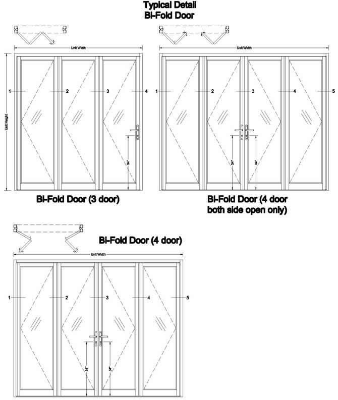 bifold door diagram outswing door diagram