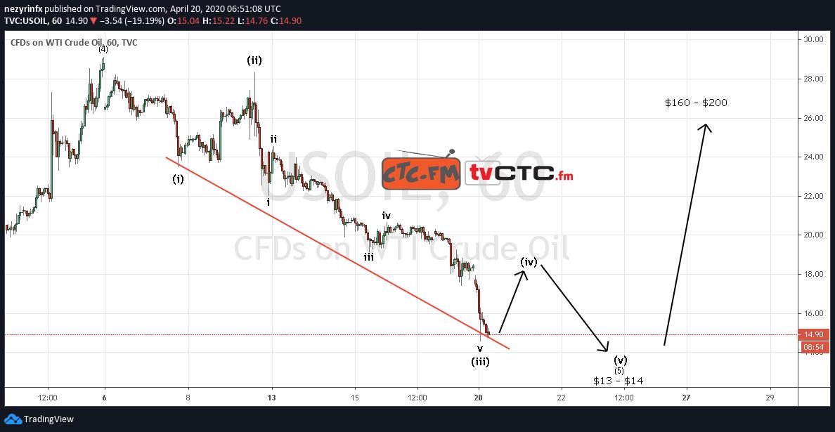 Crude Oil Wave Count Update