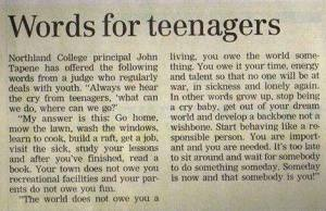 Worlds for teenagers
