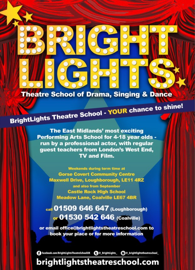 Advert for BrightLights Theatre School