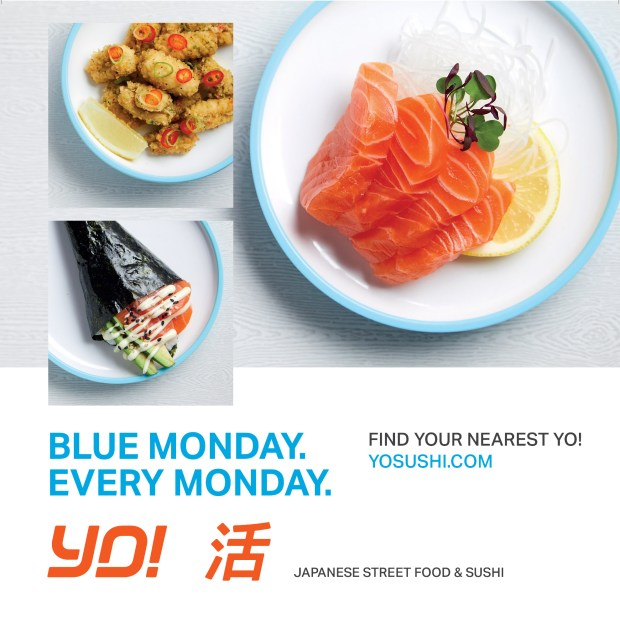 Advert for Yo! Sushi
