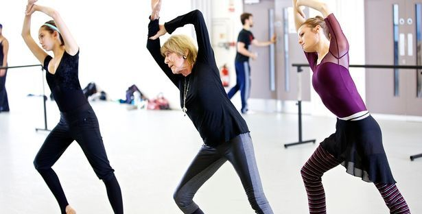 Choreographer Gillian Lynne in rehearsal