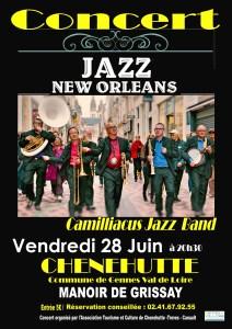 Camilliacus Jazz Band en concert @ Manoir de Grissay | Chênehutte-Trèves-Cunault | Pays de la Loire | France