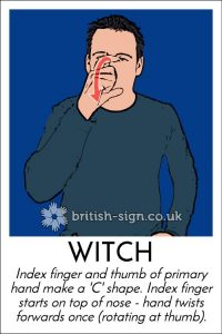BSL sign for witch