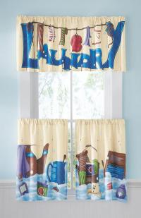 laundry room curtains decor  Design and Ideas
