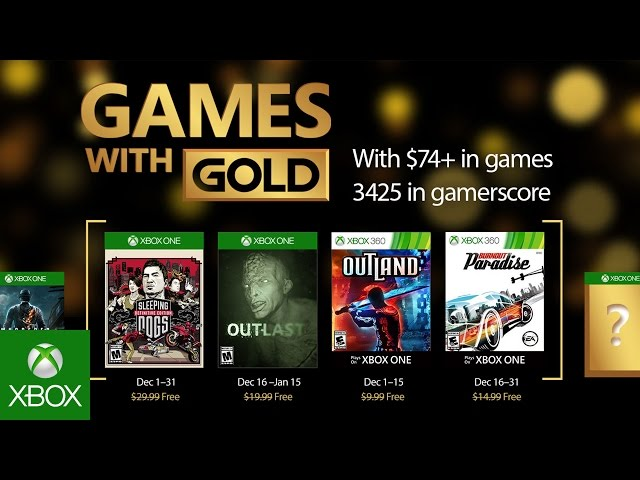 Xbox Games With Gold December 2016 Free Games List Next