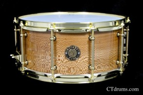 "6.5x14"" Solid Sycamore High Gloss w/ Brass"
