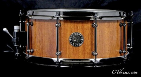 "6.5x14"" Bubinga Stave w/ Black Nickel"