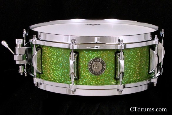 "5x14"" Goblin Green Rainbow Flake Solid Birch"