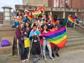 New Haven students at True Colors
